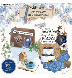 EASYCNB666 StudioLight  Die Cut Block Paper Elements Celebrate new beginnings nr.666