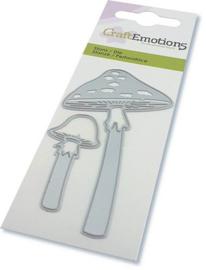 115633/0275 CraftEmotions Die paddestoelen lange steel Card 5x10cm