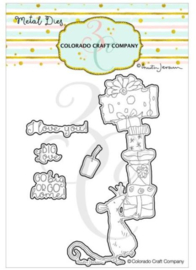 C3AJ544D Colorado Craft Company Metal Die Set Big Love-By Anita Jeram