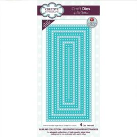 CED1252 Creative Expressions Craft die slimline Decoratieve kwadraat rechthoeken