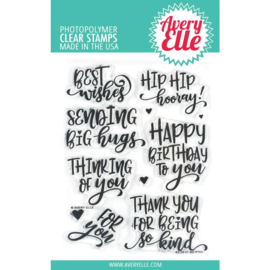 "559109 Avery Elle Clear Stamp Set  So Kind 4""X6"""