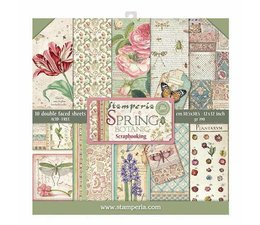 SBBL50 Stamperia Spring Botanic 12x12 Inch Paper Pack