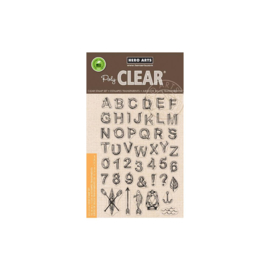 "602680 Hero Arts Clear Stamps Log Letters & Numbers 4""X6"""