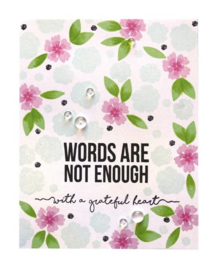 STP-005 Spellbinders Words Are Not Enough Clear Stamps