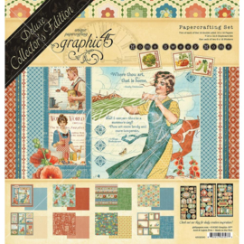 """G4502090 Graphic 45 Deluxe Collector's Edition Pack Home Sweet Home12""""X12"""""""
