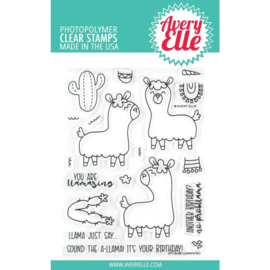 "559114 Avery Elle Clear Stamp Set Llamazing 4""X6"""