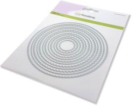 115633/0951 CraftEmotions Big Nesting Die scalop cirkels Card