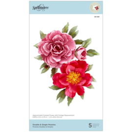 S6169 Spellbinders Etched Dies Double & Single Peonies