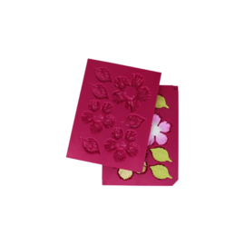 HCFB1487 Heartfelt Creations Shaping Mold Wild Rose -3D Small Rose