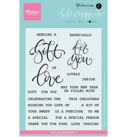 KJ1718 Marianne Design Giftwrapping: Gift of love