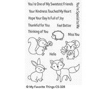CS-328 My Favorite Things Woodland Friends Clear Stamps