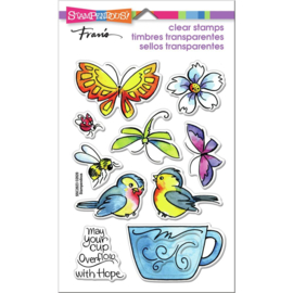 642640 Stampendous Perfectly Clear Stamps Winged Cup