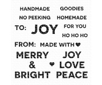 CS-423 My Favorite Things Holiday Tag Talk Clear Stamps