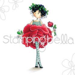 """370781 Stamping Bella Cling Stamp Garden Girl Rose 6.5""""X4.5"""""""