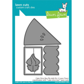LF2053 Lawn Cuts Custom Craft Die Cake Slice Box Pie Add-On