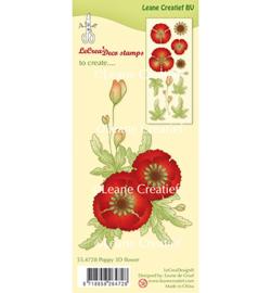 55.4728 Leane Creatief Clear Stamp Klaproos 3D Flower