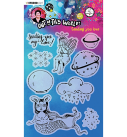 ABM-OOTW-STAMP72 - ABM Clear Stamp Sending you love Out Of This World nr.72