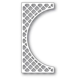 633304 Poppystamps Metal Dies Lattice Small Curve Border