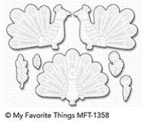 MFT-1358 My Favorite Things Playful Peacock Die-Namics