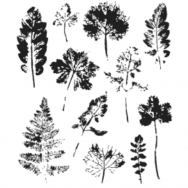 "425516 Tim Holtz Cling Stamps Leaf Prints 7""X8.5"""