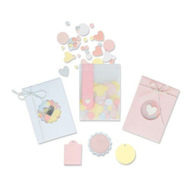 665069 Sizzix Thinlits Die Set - 8PK Confetti Pocket Lisa Jones