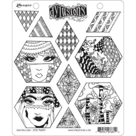 DYR76803 Ranger Dylusions Cling Stamp Set Quilt As You Go
