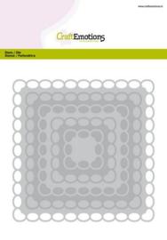 115633/0932 CraftEmotions Big Nesting Die vierkanten scalop XL oval Card 150x160 6,8-15,0cm