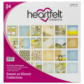 "243389 Heartfelt Creations Double-Sided Paper Pad Backyard Blossoms 12""X12"" 24/Pkg"