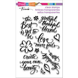 560489 Stampendous Perfectly Clear Stamps Script Sayings