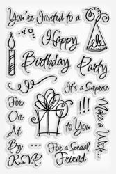 460568 Stampendous Clear Stamps Party Invite