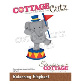 "CC853 CottageCutz Dies Balancing Elephant 1.9""X3"""
