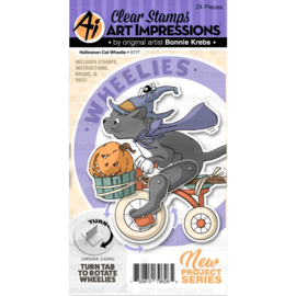 605196 Art Impressions Wheelies Stamp & Die Set Halloween Cat