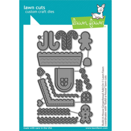 LF2438 Lawn Cuts Custom Craft Die Build-A-House Gingerbread Add-On