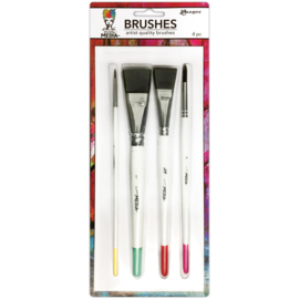 390075 Dina Wakley Media Brushes 4/Pkg