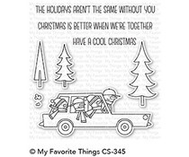CS-345 My Favorite Things Cool Christmas Clear Stamps