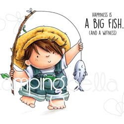 265833 Stamping Bella Cling Stamps Fishing Squidgy