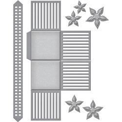 S6115 Spellbinders Shapeabilities Dies Lattice Floral Basket