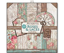 SBBL25 Stamperia Roses & Laces 12x12 Inch Paper Pack