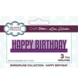 CEDLH1062 Cutting & embossing Happy Birthday