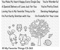 CS-363 My Favorite Things Stamp Woodland Friends