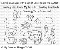 CS-381 My Favorite Things Cute Critters Clear Stamps