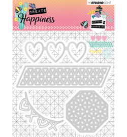 STENCILCR158 Cutting and Embossing Die Create Happiness nr.158