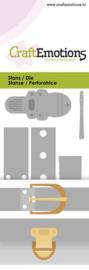 115633/0251 CraftEmotions Die - vintage sluitingen - klinknagels Card
