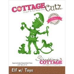 "506194 CottageCutz Elites Die Elf W/Toys 2.5""X3"""
