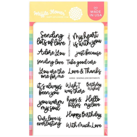 """647565 Waffle Flower Crafts Clear Stamps Sending Love Sentiments 4""""X6"""""""