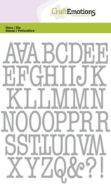 115633/0524 CraftEmotions Die alfabet typewriter hoofdletters Card