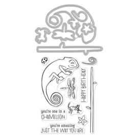 594819 Hero Arts Stamp & Cut Chameleon