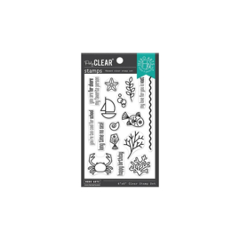 "654817 Hero Arts Clear Stamps Graphic Reef 4""X6"""