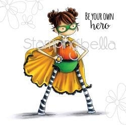 """489075 Stamping Bella Cling Rubber Stamp Tiny Townie Hayley The Superhero 6.5""""X4.5"""""""