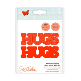 115631/1543 Tonic Studios mandala moments hugs stamp & die set 1543E